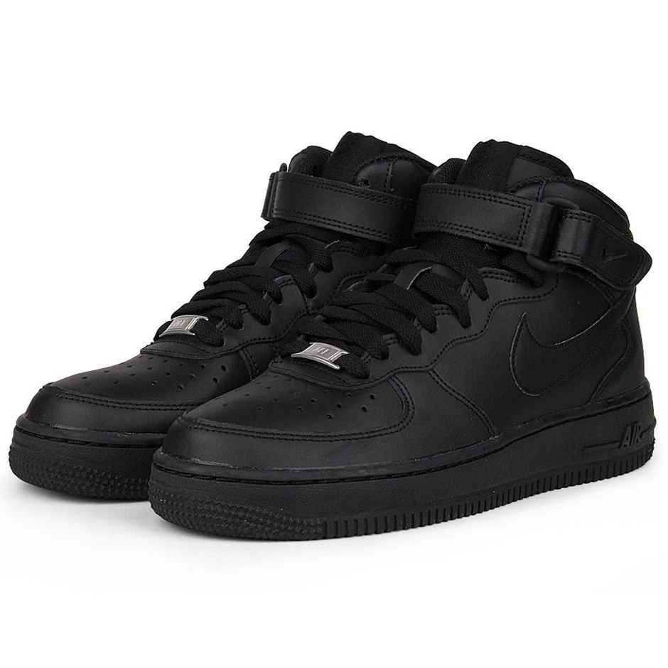 nike air force 1 mid gs high top sneaker schwarz. Black Bedroom Furniture Sets. Home Design Ideas
