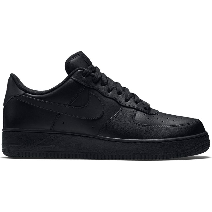 nike air force 1 39 07 herren sneaker schwarz. Black Bedroom Furniture Sets. Home Design Ideas