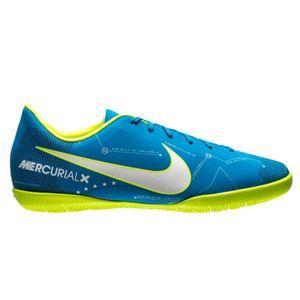 Nike JR Mercurial X Victory VI NJR IC Fussballschuh blau weiß gelb  – Bild 1
