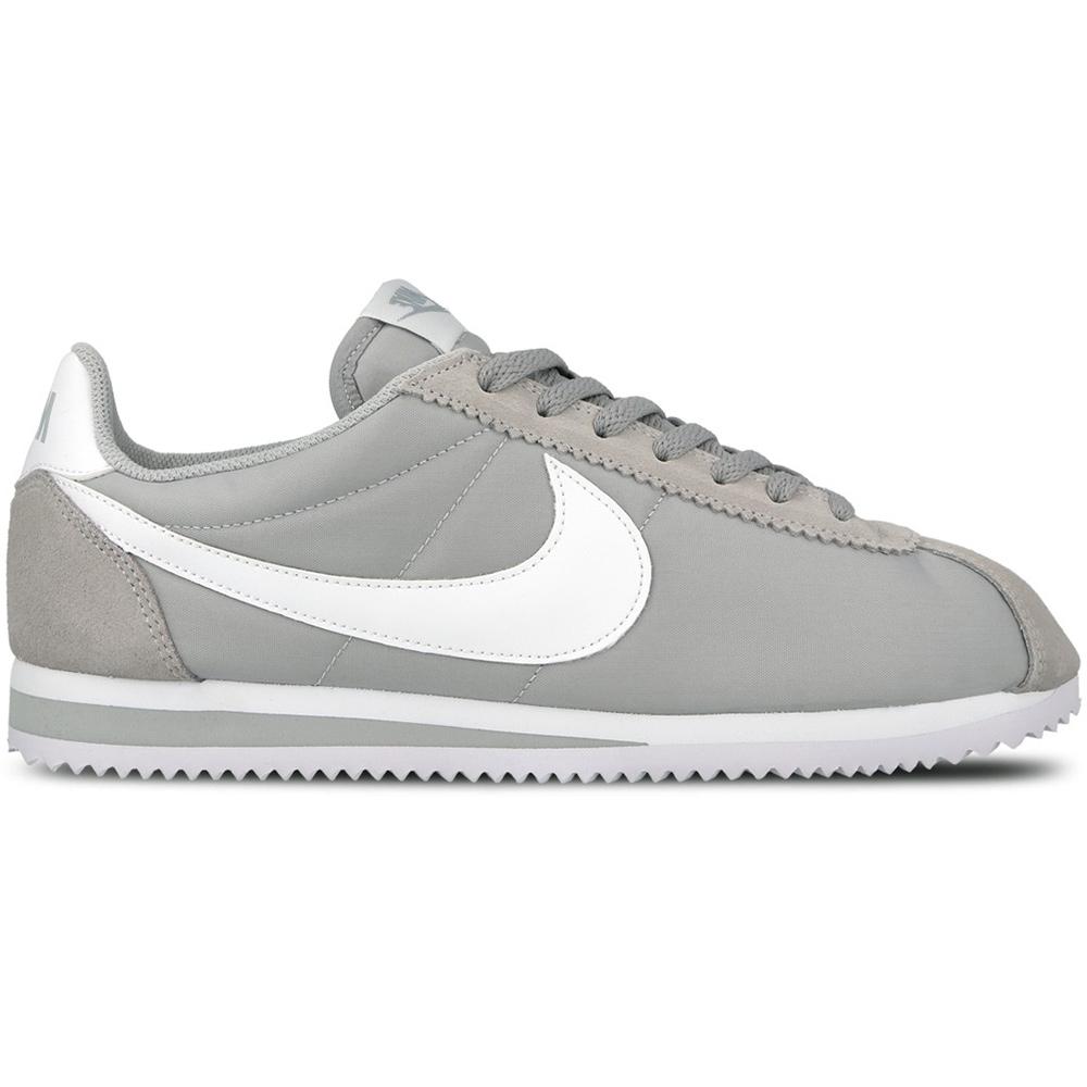 Nike Classic Cortez Nylon Herren Sneaker grau weiß 4db5a53cc0