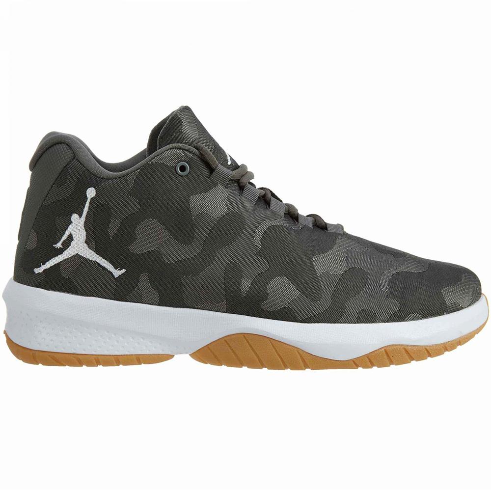 Nike Jordan B. Fly Basketball Sneaker river rock camo