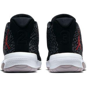 Jordan B. Fly Herren Basketball Sneaker grau schwarz rot – Bild 4
