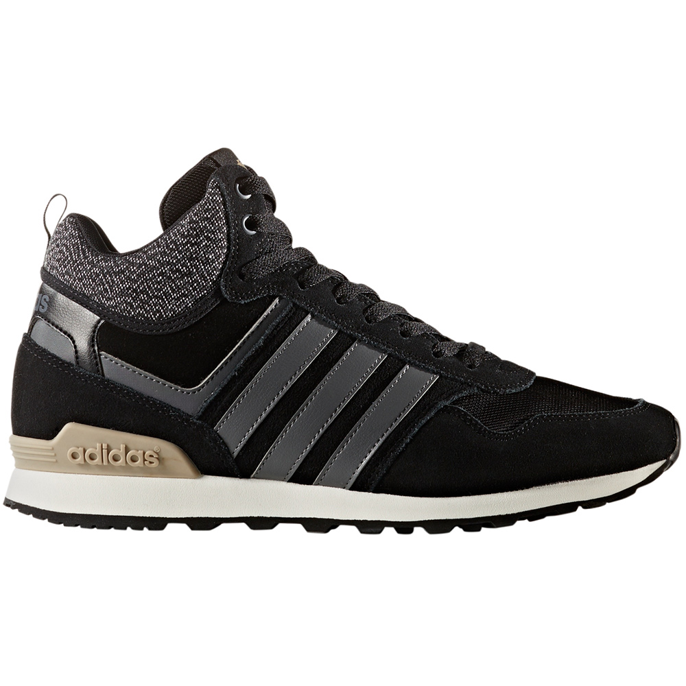 adidas neo 10xt winter mid herren sneaker schwarz grau wei. Black Bedroom Furniture Sets. Home Design Ideas