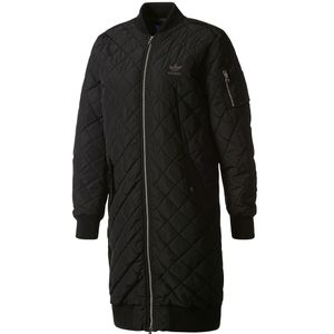adidas Originals Long Bomber Damen Steppmantel schwarz – Bild 1