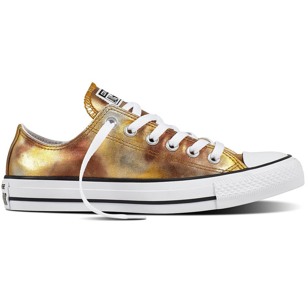 Converse CT AS OX Chuck Taylor All Star metallic silber gold