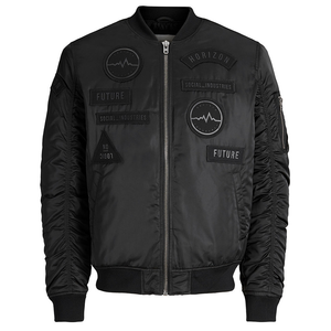 Jack & Jones Badgy Bomber Jacket Core Herrenjacke schwarz