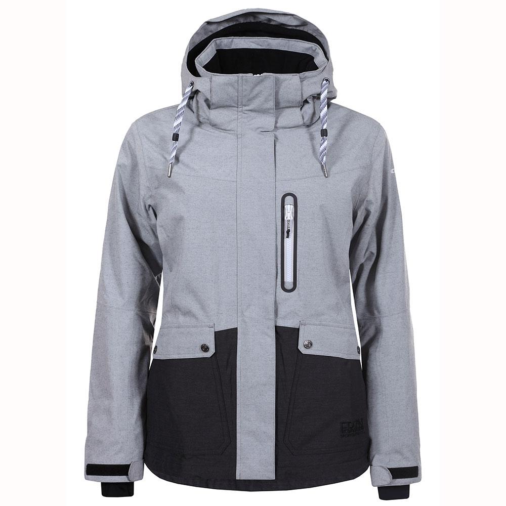 icepeak kelly jacket damen skijacke grau dunkelgrau. Black Bedroom Furniture Sets. Home Design Ideas
