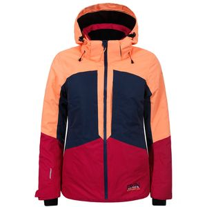 Icepeak Kate Jacket Damen Skijacke pink navy orange  – Bild 1