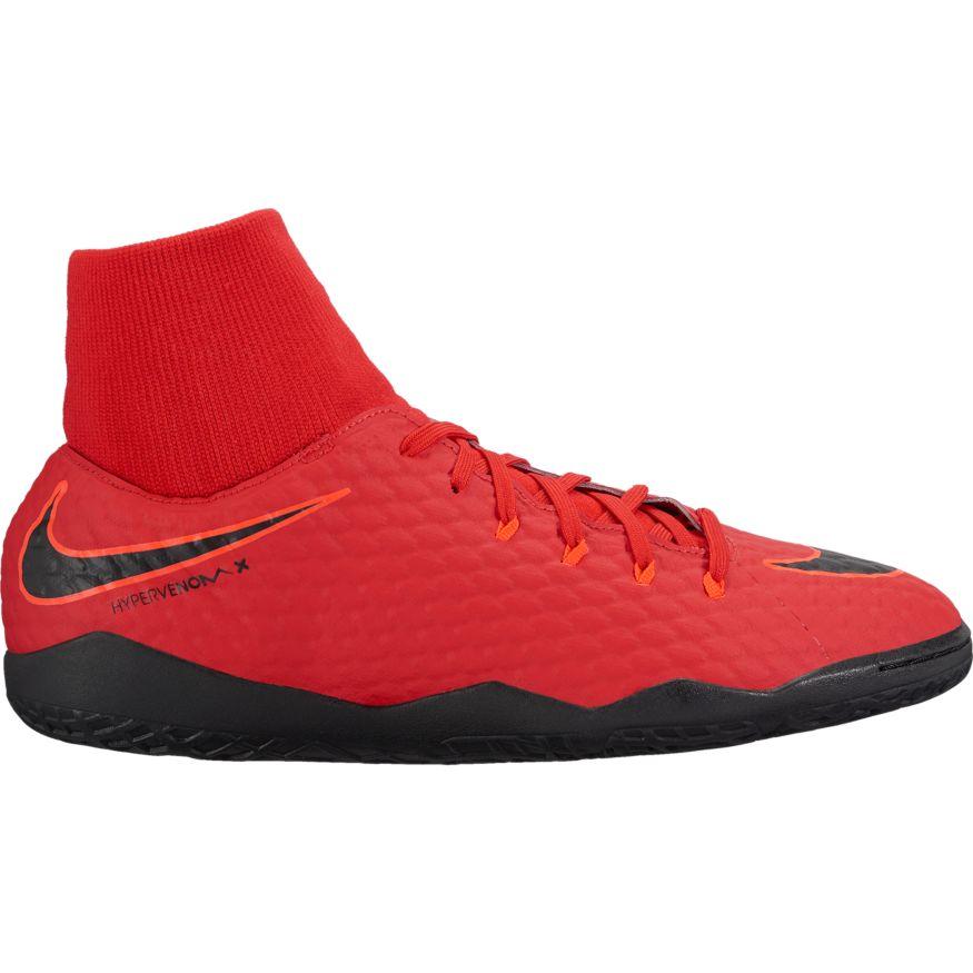 Nike Hypervenom X Phelon III DF IC Fußballschuh university red