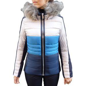 West Scout Abigail Real Down Ski Jacket Damen Skijacke blau grau  – Bild 1