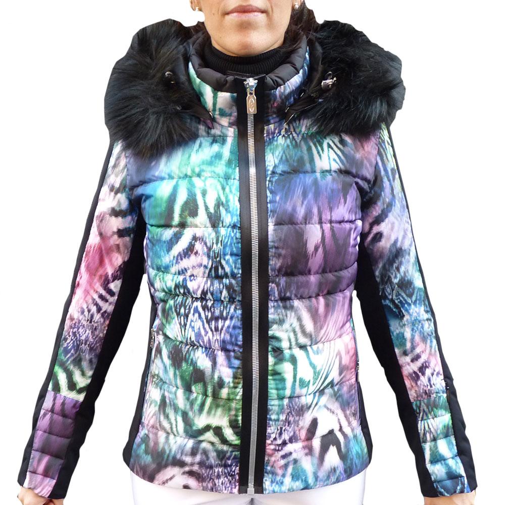 Abigail Scout Skijacke Damen West Mehrfarbig Ski Jacket Down Real vgyIbf6Y7