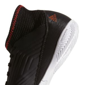 adidas Predator Tango 18.3 IN J Kinder Hallenschuh schwarz weiß – Bild 4