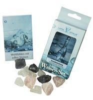 Wassersteine für Edelsteinwasser Wellness Grundmischung, Edelsteinmischung Amethyst Bergkristall Rosenquarz 001
