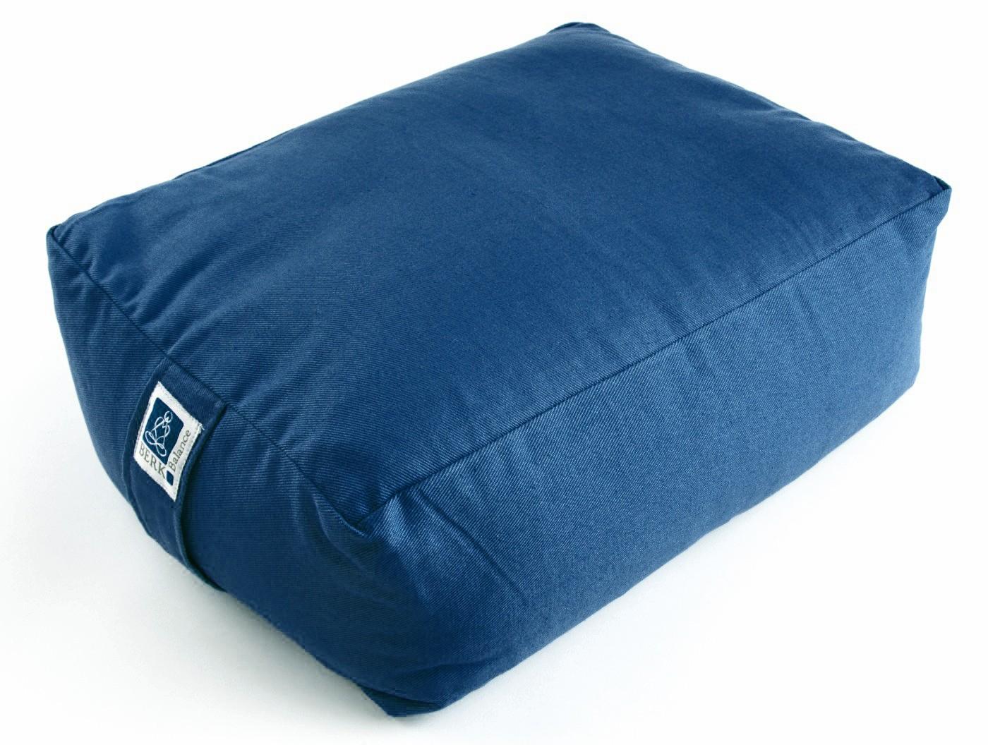 yogakissen meditationskissen quader 40 x 30 x 15 cm bezug baumwolle blau abnehmbar f llung. Black Bedroom Furniture Sets. Home Design Ideas