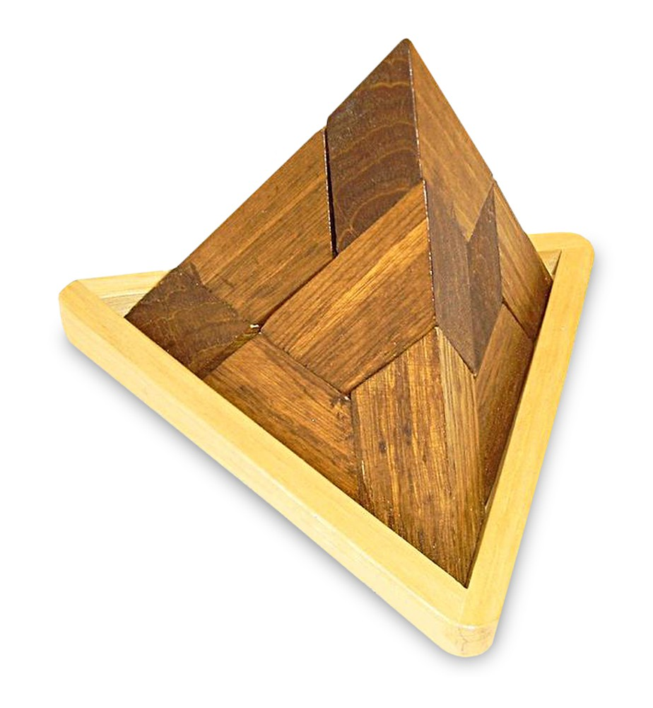 geduldspiel pyramide 3d puzzle aus holz natur braun 15 x 14 x 12 cm denkspiel knobelspiel. Black Bedroom Furniture Sets. Home Design Ideas
