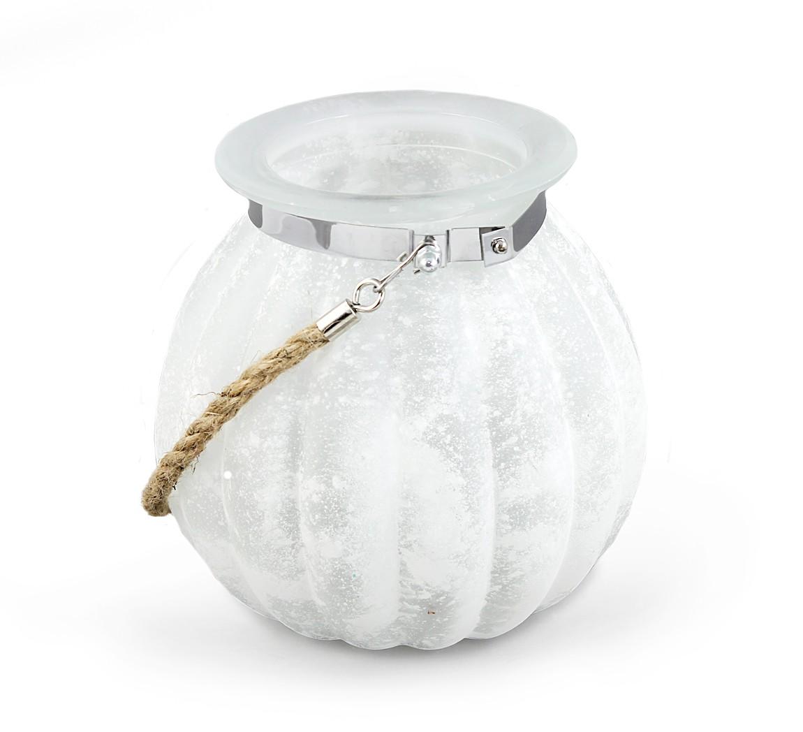 windlicht glaslicht kugelglas maritim 17 5 cm x 18 5 cm hoch aus glas milchig wei gespritzt. Black Bedroom Furniture Sets. Home Design Ideas