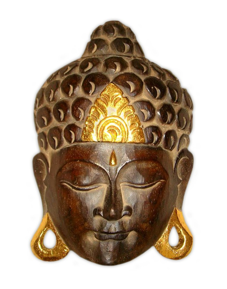 maske holzmaske buddha abbild wanddekoration relief aus. Black Bedroom Furniture Sets. Home Design Ideas