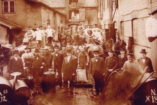 Rumhaus in Flensburg Ende 19. Jahrhundert