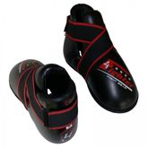 4Fighter footguard Kickboxing shoes foot protector black-red-white Kids+Adult XS-XL