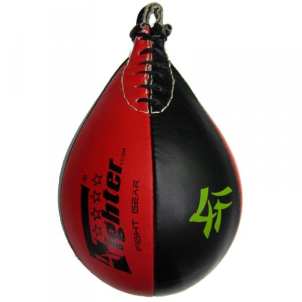 4Fighter PRO cuero bola de la velocidad / speedball de entrenamiento Boxeo negro-rojo – Bild 1