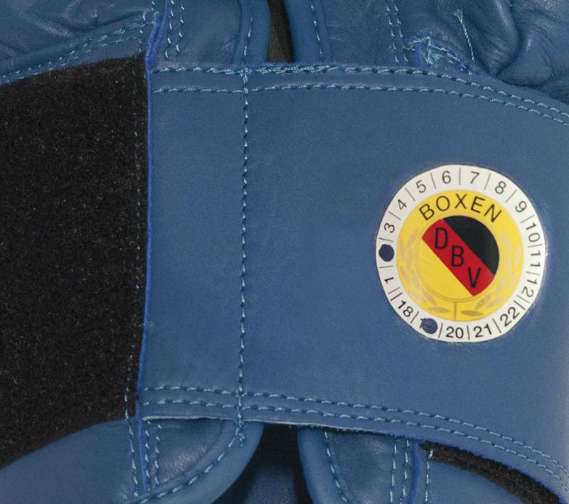 Paffen Sport Contest Boxhandschuhe für den Wettkampf blau mit DBV Prüfmarke – Bild 2