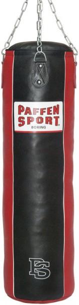 "Paffen-Sport ""Star"" Leder-Sandsack, schwarz/rot, gefüllt, 120 x 35 cm"