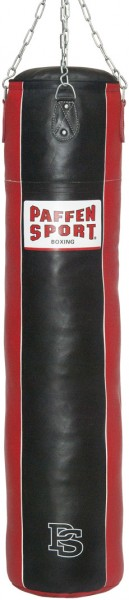 "Paffen-Sport ""Star""leather punching bag, black/red, unfilled, 150 x 35 cm"