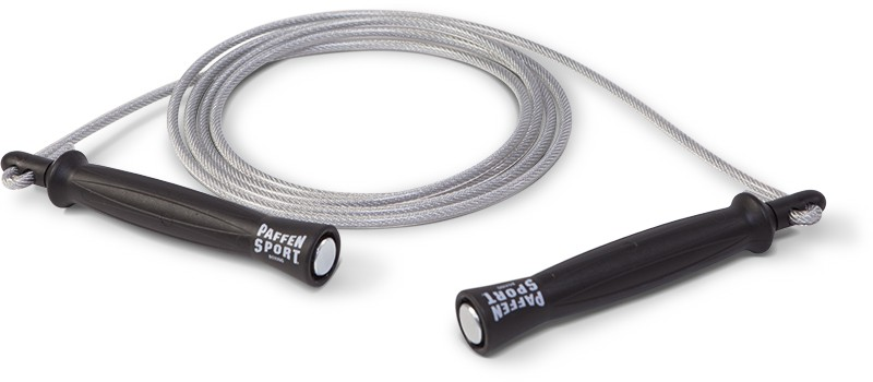 Paffen-Sport Pro PVC Jump Rope, black, lengh variable up to 2,8m – image 1