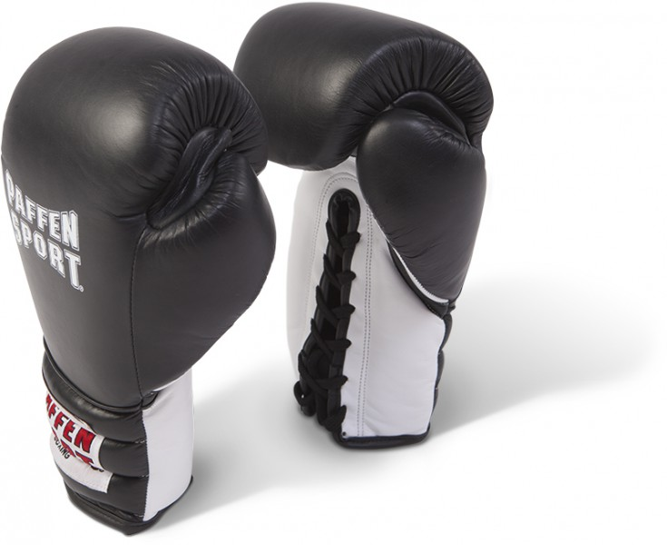 Paffen Sport Pro Boxing Gloves Lace for sparring black / white