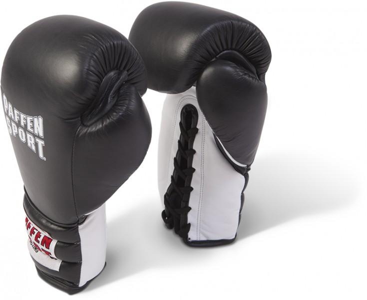 Paffen Sport Pro Guantes de boxeo de encaje para el combate negro / blanco