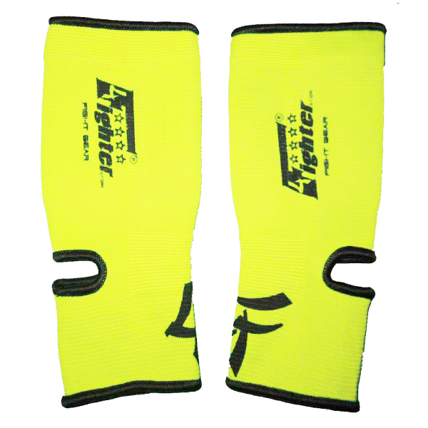4FIGHTER ankle guards / ankle support neon yellow – image 1