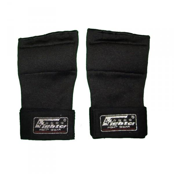 4Fighter Gel-Boxbandagen / Innenhandschuhe Gel Bandagen, Klettverschluss und Logo