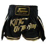 4Fighter Muay Thai Shorts Thaibox Hose King of the Ring schwarz-gold 001