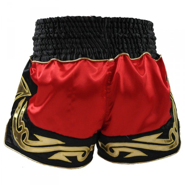 4Fighter Brave Muay Thai Shorts / Kick Thaiboxing red black with 4Fighter in Thai Letters – image 3