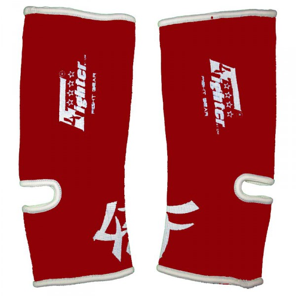 4FIGHTER ankle guards / ankle support red with white innovativ Outlines – image 1