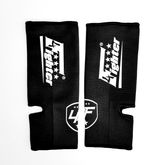 4FIGHTER ankle guards / ankle support black with white Logo