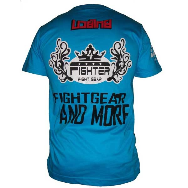 "4Fighter Men's T-Shirt ""RETRO"" blue with different prints – image 2"