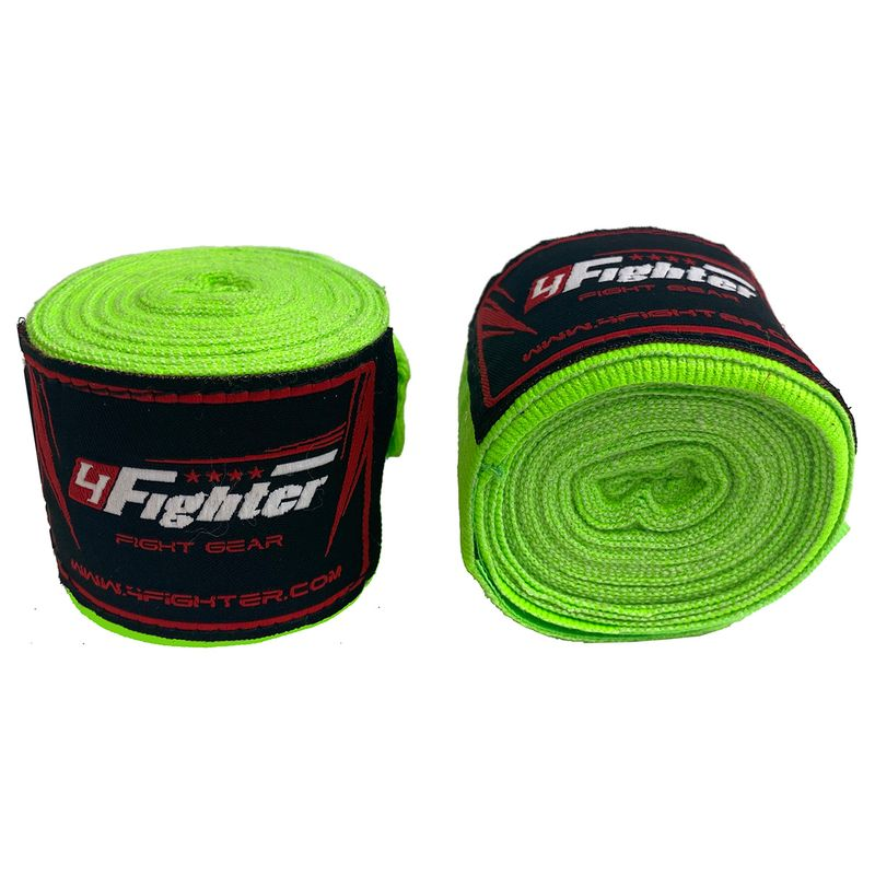 4Fighter Box bandages / handwraps 460cm elastic neon green – image 3