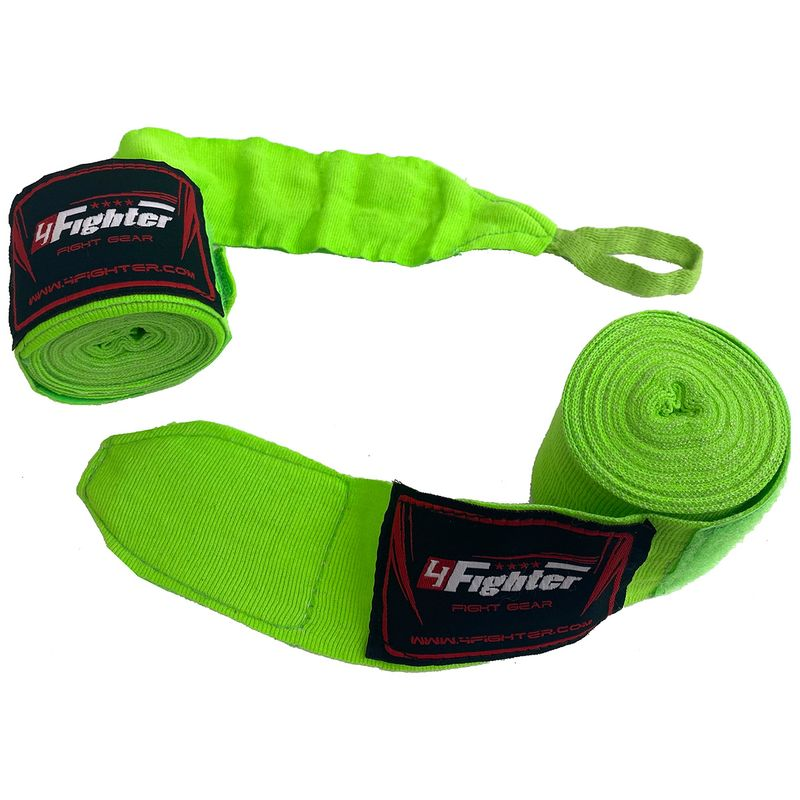 4Fighter Box bandages / handwraps 460cm elastic neon green – image 2