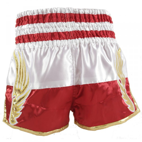 4Fighter Muay Thai Shorts National Polen / Polska im Design der National Flagge – Bild 3