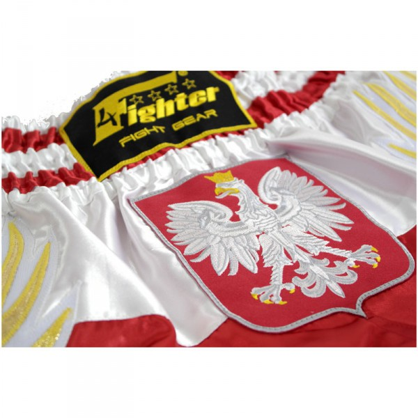 4Fighter Shorts Muay Thai National Polonia en el diseño de la bandera nacional – Bild 2