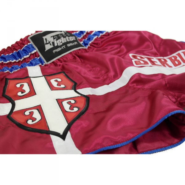 4Fighter Muay Thai Shorts National Serbia in the design of national jerseys – image 5