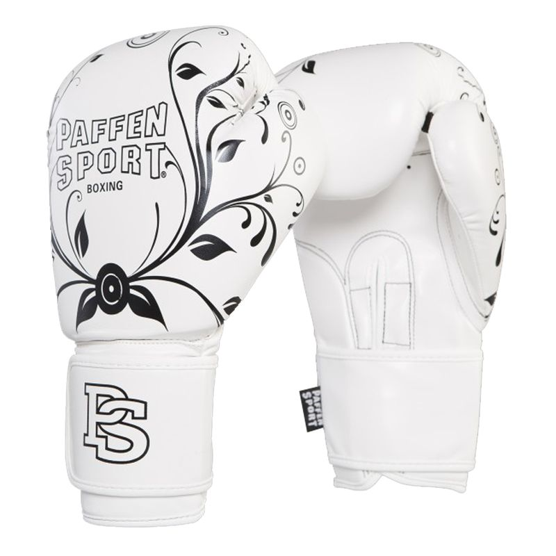 Paffen-Sport mujer! guantes de boxeo blanco / negro