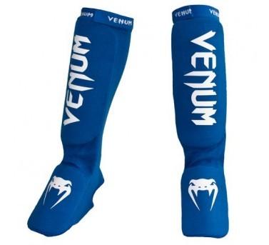 Venum KONTACT Schienbeinschützer Spannschützer MMA, Muay Thai & Kick Boxing - blau