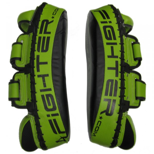 4Fighter Thai PAO  Kick Pad Muaythai Kickpads - Leather black-green