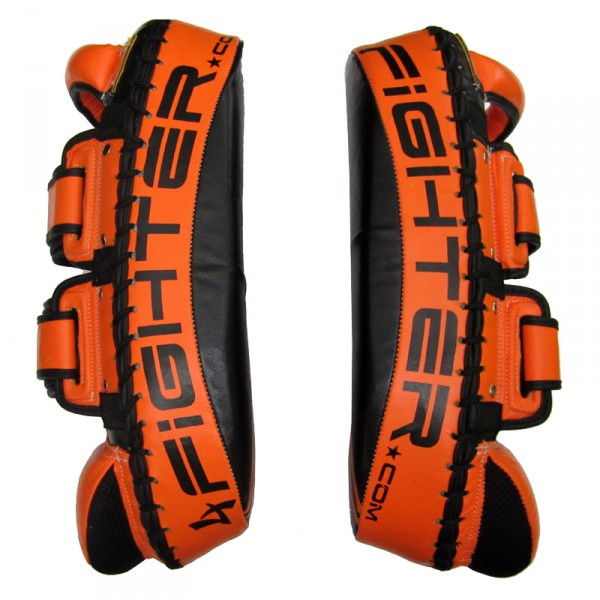 4Fighter PAO Vietman Thai Kick Pad - Leather black-orange