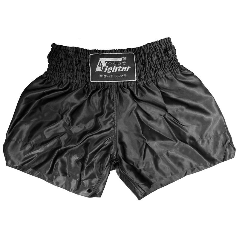 4Fighter Shorts Muay Thai Classic negro  – Bild 1