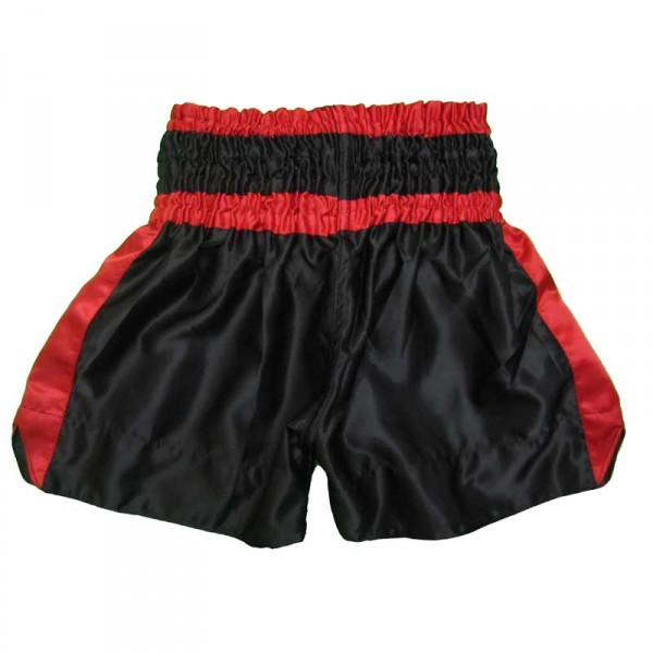 4Fighter Muay Thai Shorts Classic black-red mit 4Fighter Tribal Logo on leg – image 2