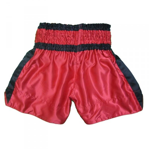 4Fighter Muay Thai Shorts Classic red-black with 4Fighter Tribal Logo on leg – image 2