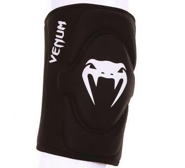 Venum Kontact Gel Knee Pad Knieschützer aus Neopren-Gel für MMA / Muay Thai Boxen - schwarz/weiß – Bild 1